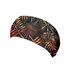 Tropical Leaves Yoga Headband by goljakoff
