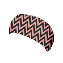 Chevron Style Collection - Blooming Dahlia Red & Black Yoga Headband by FEMCreations