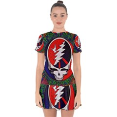 Grateful Dead - Drop Hem Mini Chiffon Dress