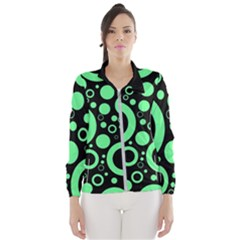 Circle Party Collection - Dragon Green & Black Women s Windbreaker by FEMCreations