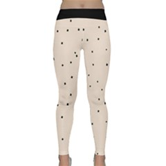 Cute Flowers Collection - Antique White & Black Classic Yoga Leggings by FEMCreations