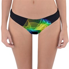 Colorful Smoke On Black Reversible Hipster Bikini Bottoms by Lotus