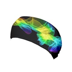 Colorful Smoke On Black Yoga Headband