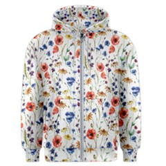 Flowers Pattern Men s Zipper Hoodie