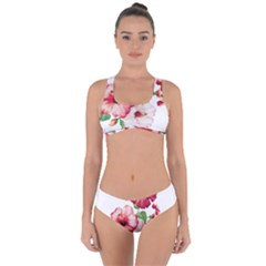 Flawers Criss Cross Bikini Set by goljakoff