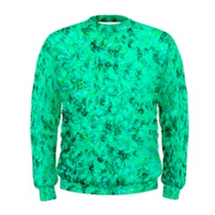 Aqua Marine Glittery Sequins Men s Sweatshirt by essentialimage