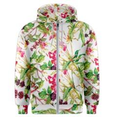 Spring Flowers Men s Zipper Hoodie