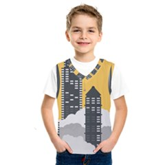 Minimal Skyscrapers Kids  Basketball Tank Top