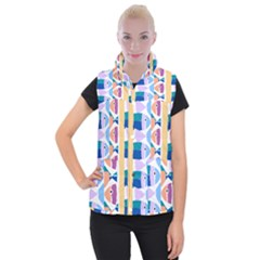 Illustrations Of Fish Texture Modulate Sea Pattern Women s Button Up Vest