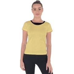 Jasmine Yellow - Short Sleeve Sports Top  by FashionLane