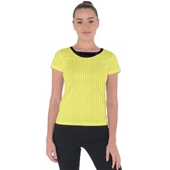 Unmellow Yellow - Short Sleeve Sports Top  by FashionLane