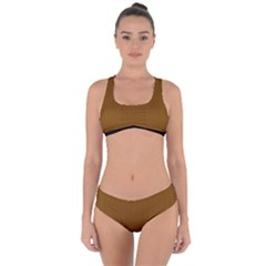 Just Brown - Criss Cross Bikini Set by FashionLane