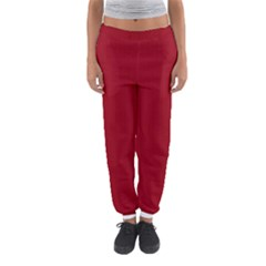 Just Red - Women s Jogger Sweatpants by FashionLane