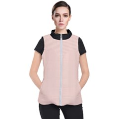 Pale Red - Women s Puffer Vest