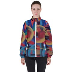 Kaleidoscope 2 Women s High Neck Windbreaker by WILLBIRDWELL