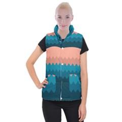 Flat Ocean Palette Women s Button Up Vest