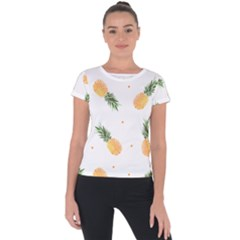 Pineapple Pattern Short Sleeve Sports Top  by goljakoff