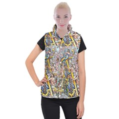 The Illustrated Alphabet - A - By Larenard Women s Button Up Vest