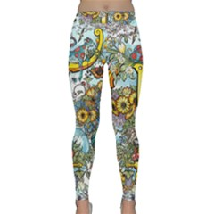 The Illustrated Alphabet - T - By Larenard Classic Yoga Leggings by LaRenard