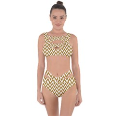 Chevron Gold Bandaged Up Bikini Set  by impacteesstreetweargold