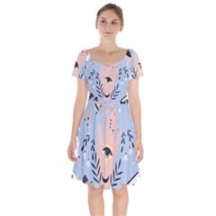 Thinking Is Love Short Sleeve Bardot Dress by designsbymallika