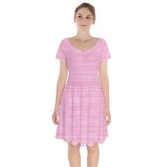 Pink Knitting Short Sleeve Bardot Dress by goljakoff