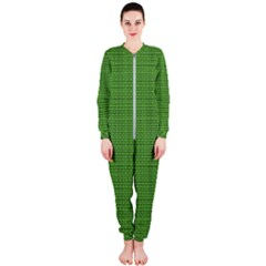 Green Knitting Onepiece Jumpsuit (ladies)  by goljakoff