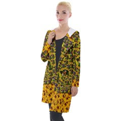 Lizards In Love In The Land Of Flowers Hooded Pocket Cardigan by pepitasart