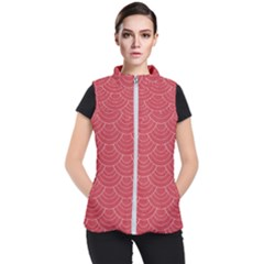 Red Sashiko Women s Puffer Vest by goljakoff