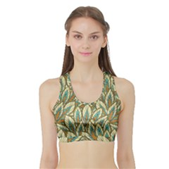 Field Leaves Sports Bra With Border by goljakoff
