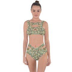 Field Leaves Bandaged Up Bikini Set  by goljakoff
