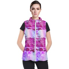 Background Crack Art Abstract Women s Puffer Vest by Mariart