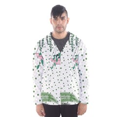 Plants Flowers Nature Blossom Men s Hooded Windbreaker