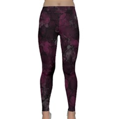 Purple Alcohol Ink Classic Yoga Leggings by Dazzleway