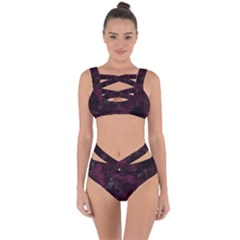 Purple Alcohol Ink Bandaged Up Bikini Set  by Dazzleway