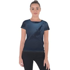 Blue Whale Family Short Sleeve Sports Top