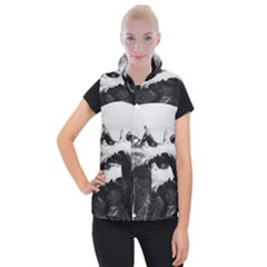 Whale In Clouds Women s Button Up Vest