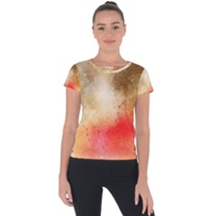 Golden Paint Short Sleeve Sports Top  by goljakoff