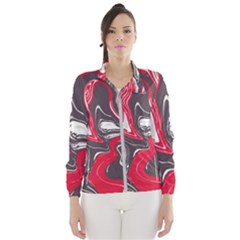 Red Vivid Marble Pattern 3 Women s Windbreaker by goljakoff