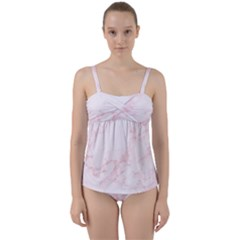 Porcelain Pink Twist Front Tankini Set by dajjj