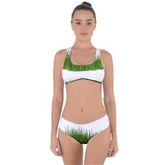 Green Grass Criss Cross Bikini Set