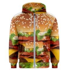 Burger Men s Zipper Hoodie