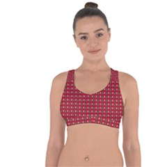 Snowflake Christmas Tree Pattern Cross String Back Sports Bra by Amaryn4rt