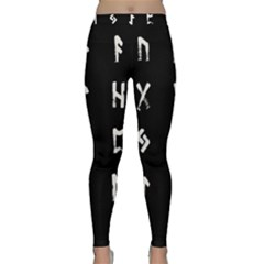 Elder Futhark Rune Set Collected Inverted Classic Yoga Leggings