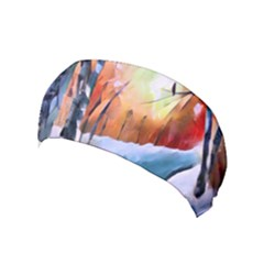 Paysage D hiver Yoga Headband by sfbijiart