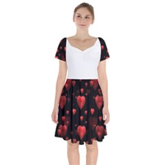Multicoeur Short Sleeve Bardot Dress by 300927