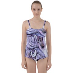 ¨|motion Twist Front Tankini Set