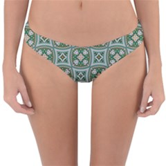 Ornamental Pattern Reversible Hipster Bikini Bottoms