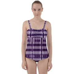Purple Tigress Twist Front Tankini Set
