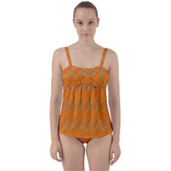 Sea Beyond Thefire Twist Front Tankini Set by Sparkle